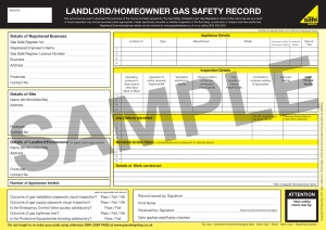 Landlord Gas Safety Record